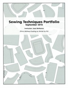 Sewing Techniques Portfolio Patterns